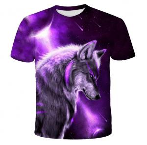 T-Shirt Loup Violet