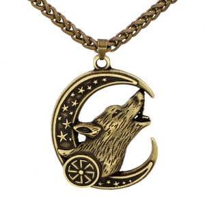 Collier Loup Celtique doré