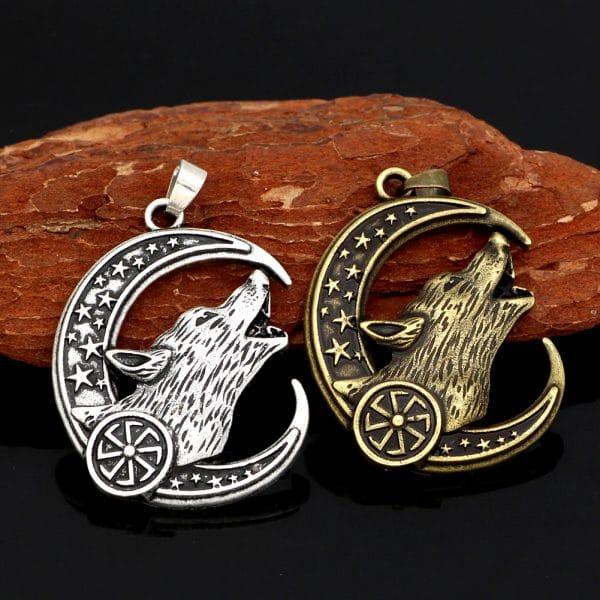 Collier Loup Celtique argent et doré