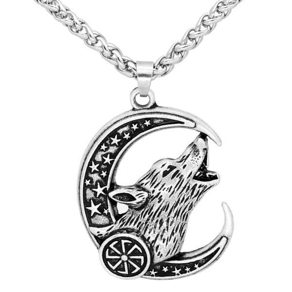 Collier Loup Celtique argent