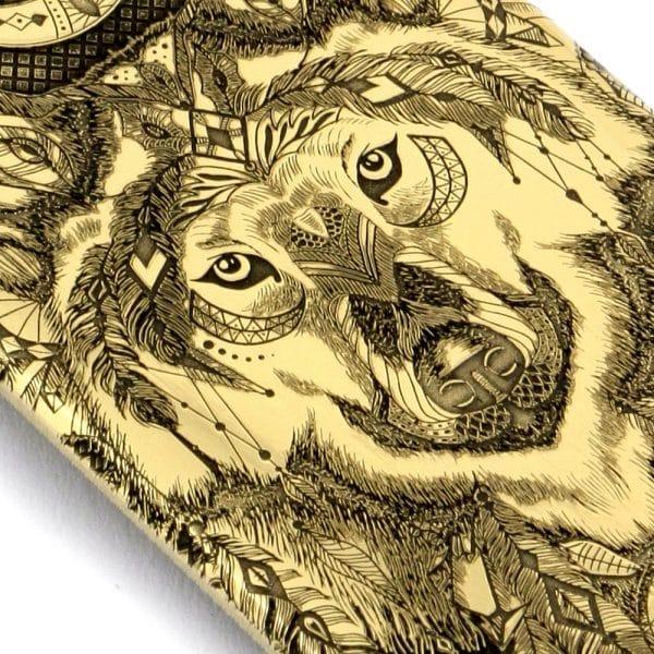 pendentif Loup Indien vue de près