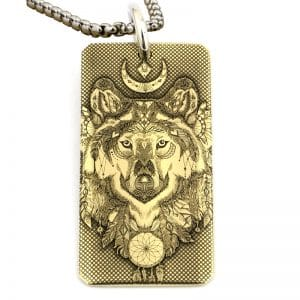 Collier Loup Indien