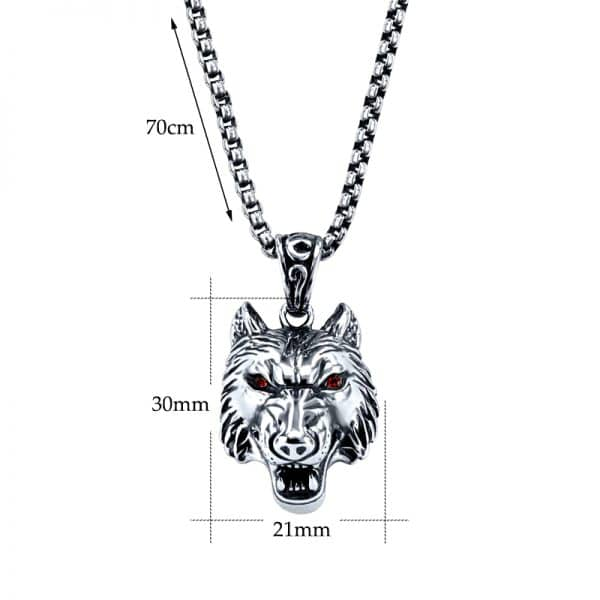 Collier Loup Biker taille