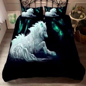 Parure de lit Loup Blanc