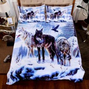 Parure de lit avec des loups