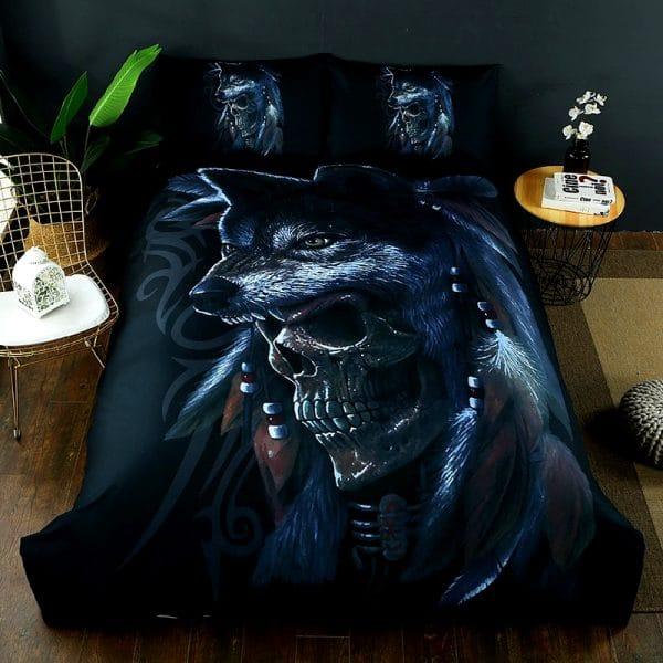 Parure de lit Loup Tête de Mort