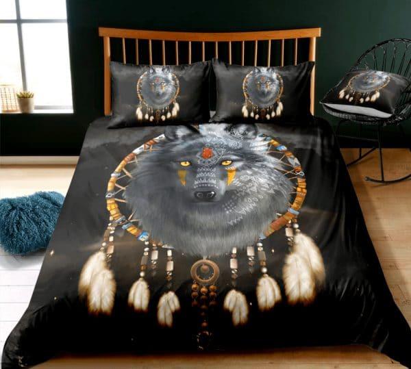 Parure de lit Loup Indien