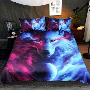 Parure de lit Imprimée Loup