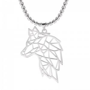 Collier Tête de Loup Femme