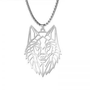 Collier Tête de Loup Origami