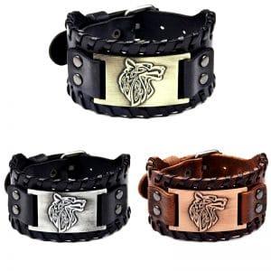 Bracelet Viking Tête de Loup