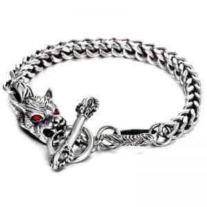 Bracelet Homme Tête de Loup