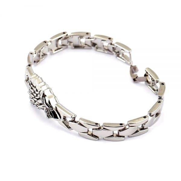Bracelet Loup Stark en alliage de zinc