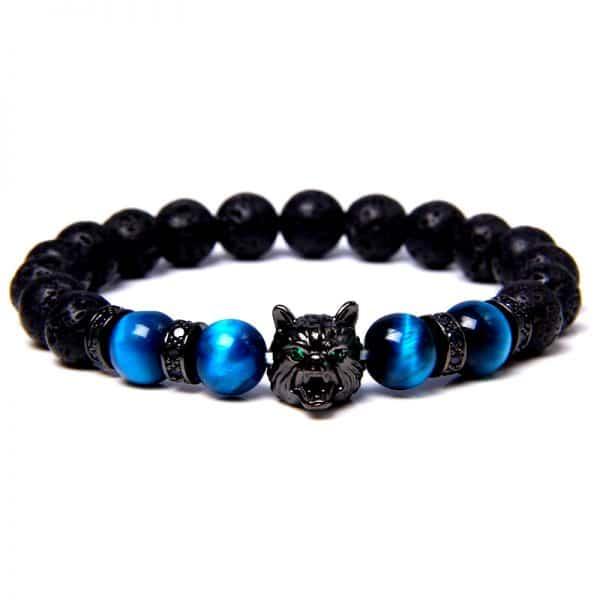 Bracelet Loup Porte-Bonheur Bleu