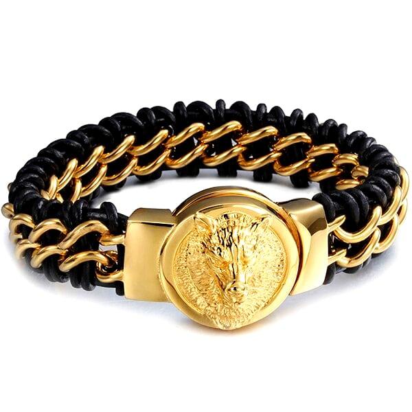 Bracelet Loup Plaqué Or