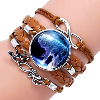 Bracelet Loup Pour Femme Marron 2