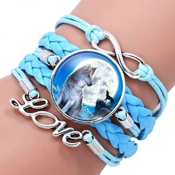 Bracelet Loup Pour Femme Bleu