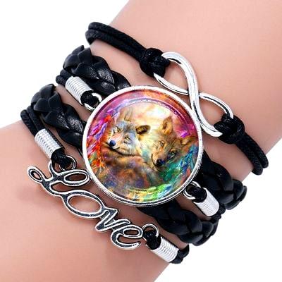 Bracelet Loup Pour Femme Noir 4