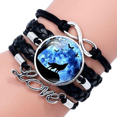 Bracelet Loup Pour Femme Noir 3