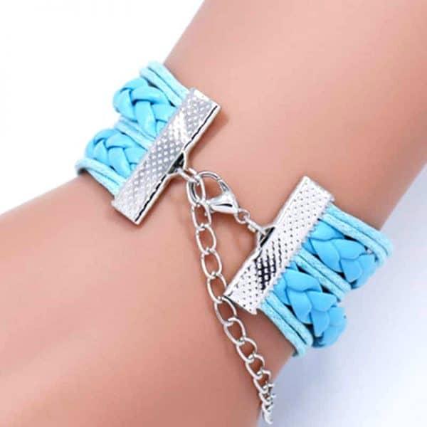 Bracelet Loup Pour Femme fermoir