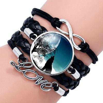 Bracelet Loup Pour Femme Noir 2