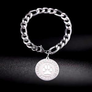 Bracelet Loup Griffe en acier