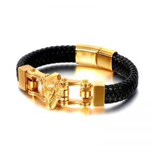 Bracelet Loup Couleur Or