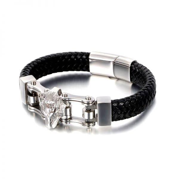 Bracelet Loup Couleur Argent
