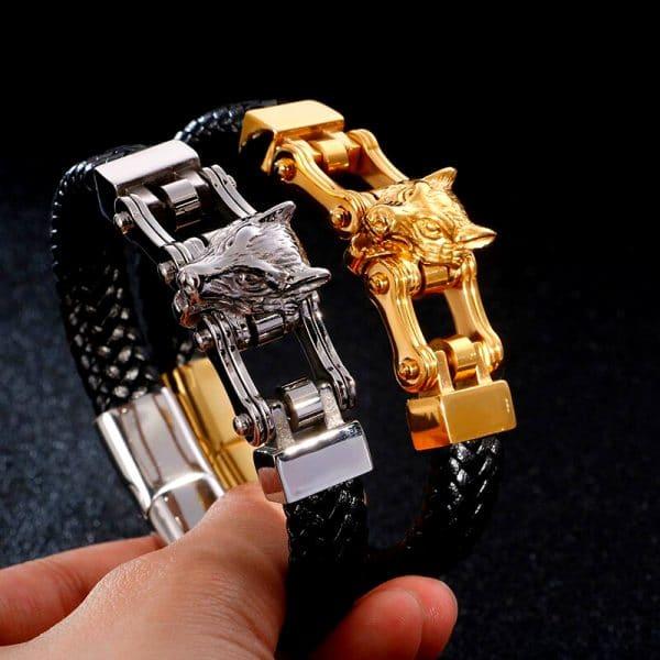 Bracelet Loup Couleur Or et argent