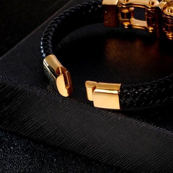 fermoir bracelet loup couleur or