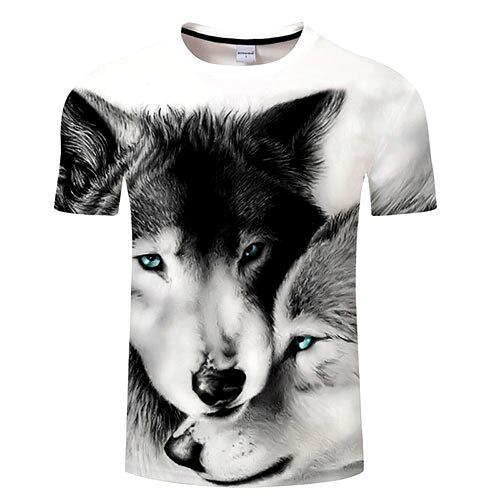 T-shirt loup et louve