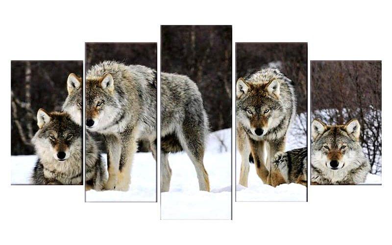 Tableau Meute de Loup