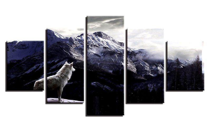 Tableau Loup Montagne