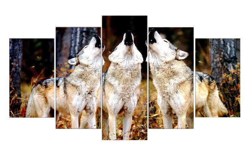 Tableau 3 Loups qui Hurlent