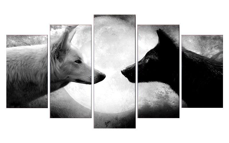 Tableau Loup Face à Face
