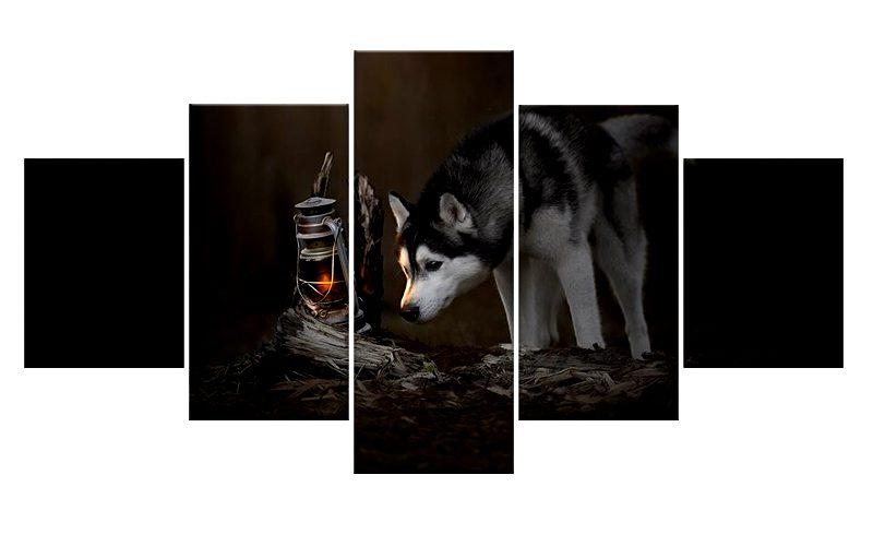 Tableau Loup Husky