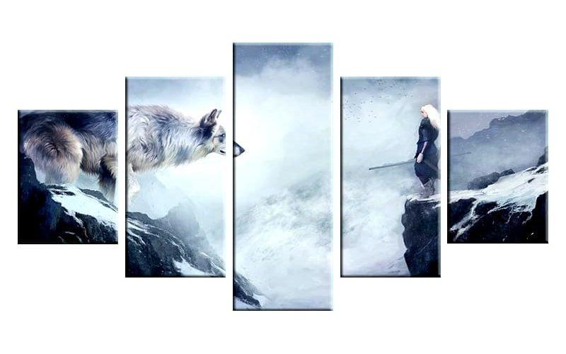 Tableau Loup Fantaisie En Hiver