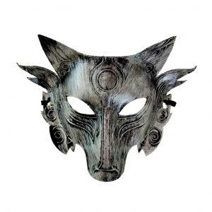 Masque Loup Argenté-Gris